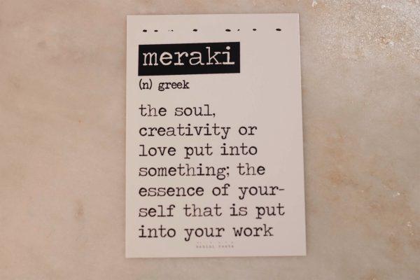 Meraki Card.