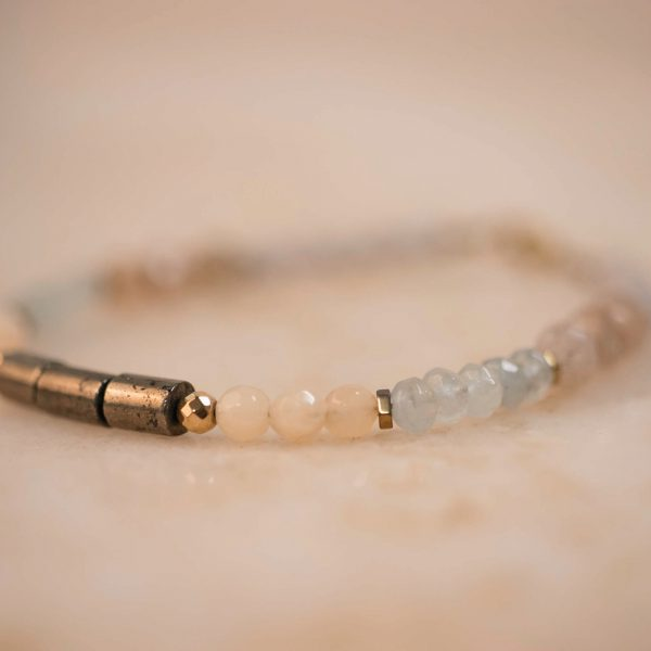 Back to the ROOTS BRACIE - Aquamarine, Pyrite, Jade & Moonstone.2
