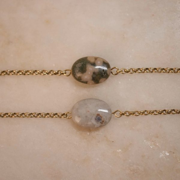 bobini roots chain bracie - single stone; jasper