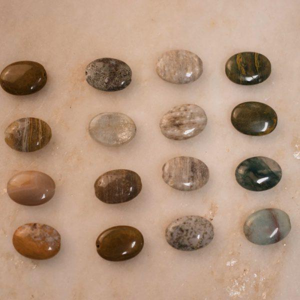 bobini roots chain bracie - single stone; jasper stone options 1.