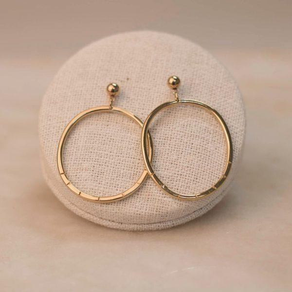 BIDENS Hoop Earrings Brass & Silver 1