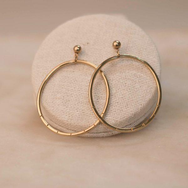 BIDENS Hoop Earrings Brass & Silver 2.