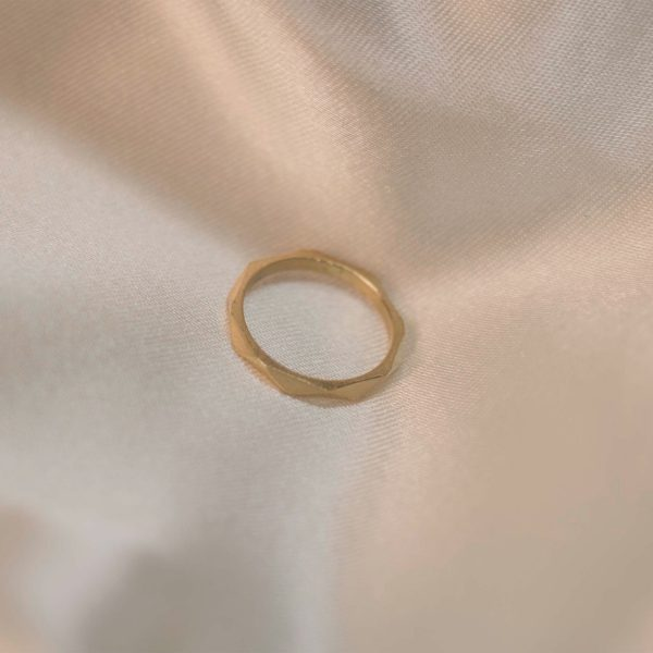 Facet Ring on Silk - Brass 1