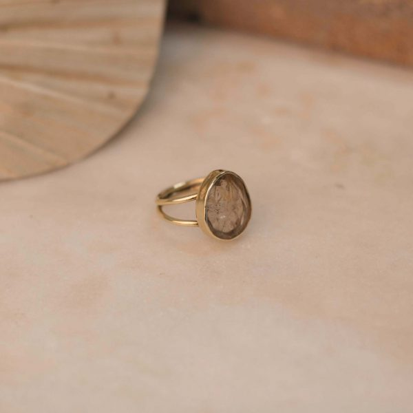 LILIUM Ring Rutile Quartz - Brass 2