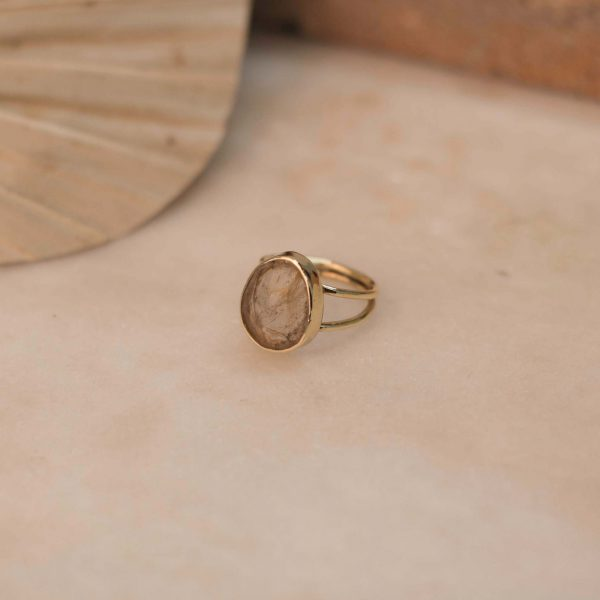 LILIUM Ring Rutile Quartz - Brass