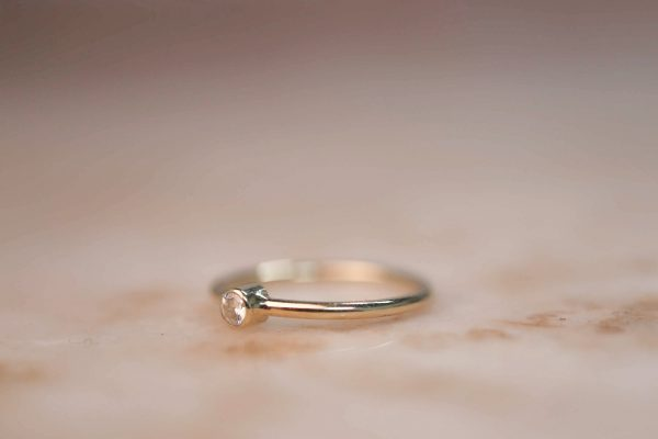 14k Gold Soliaire Ring with Moissanite or Diamond 2.j