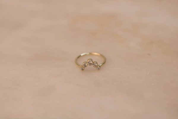 Arch Ring with Moissanite - 14k Gold (1).