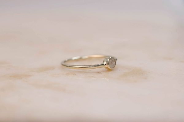 Solitaire Ring Rustic Ice Diamond - 14k Gold 3