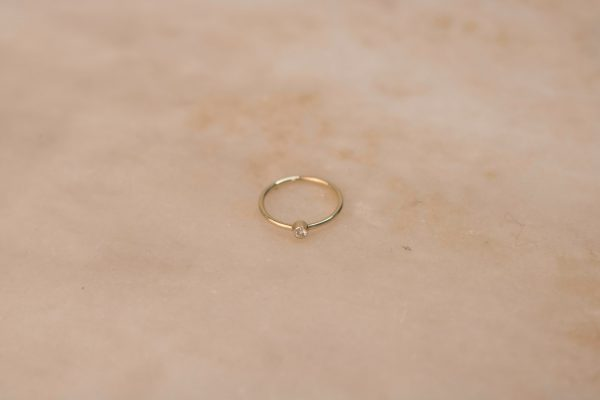 Solitaire Ring with Moissanite - 14k Gold 1.1