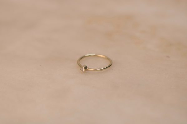 Solitaire Ring with Moissanite - 14k Gold 2