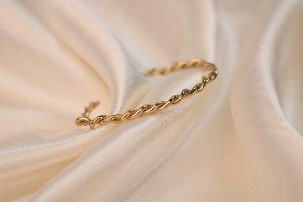 Twist Cuff on Silk - Brass 3