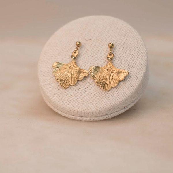GINKGO Earrings - Brass 1.2.