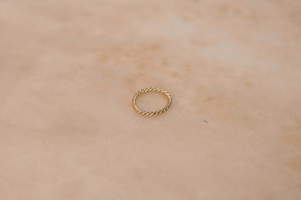 Twist Ring - 14k Yellow Gold 1