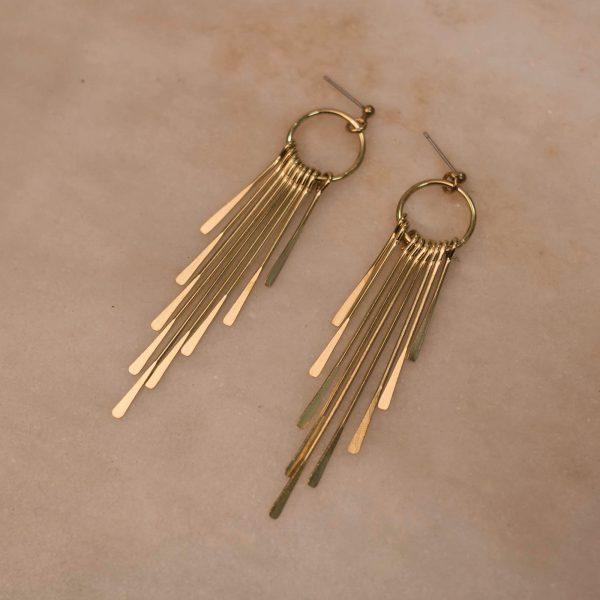 Waterfall Earrings - Brass 1.