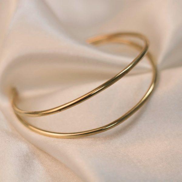 Double Cuff on Silk - Brass 3