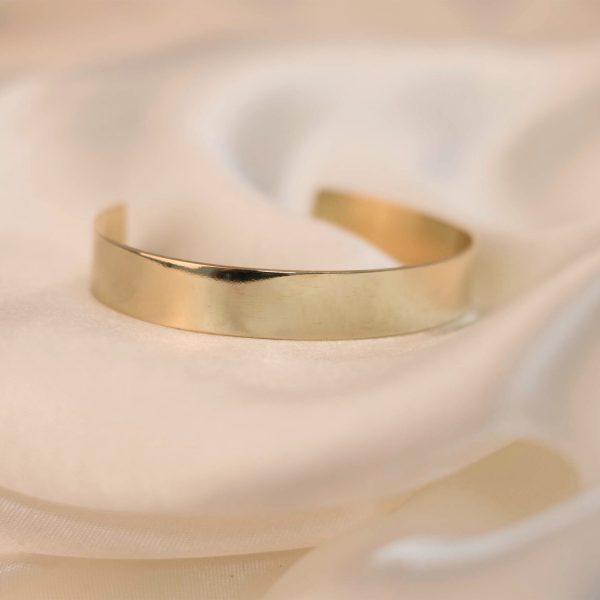 Wide Cuff on Silk - Brass 3