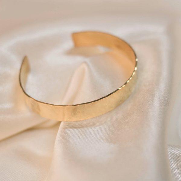 Wide Cuff on Silk - Brass 4
