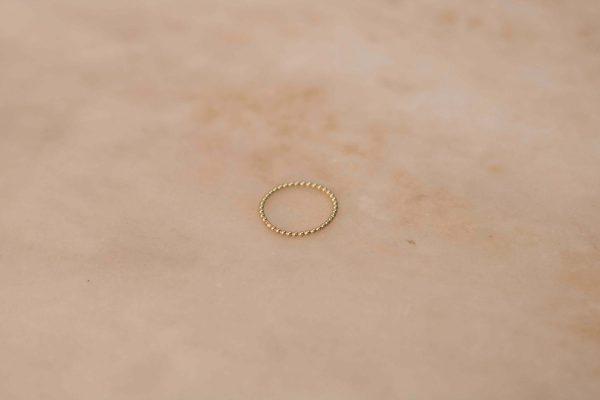Dots Ring - 14k Yellow Gold 1