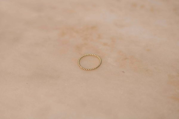 Dots Ring - 14k Yellow Gold 1.2
