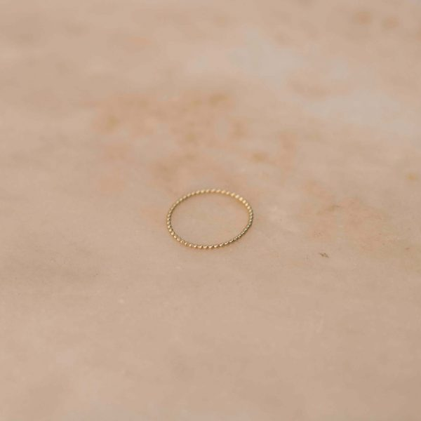 Fine Dots Ring - 14k Yellow Gold 1