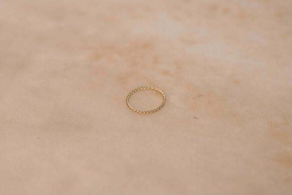 Fine Twist Ring - 14k Yellow Gold 1
