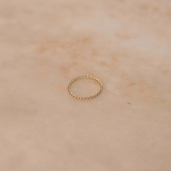 Fine Twist Ring - 14k Yellow Gold 1