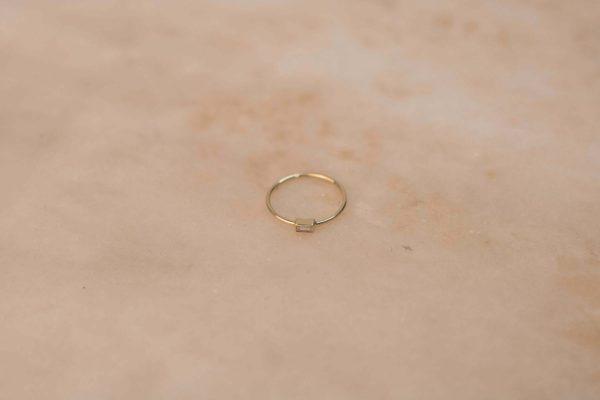 Moissanite Baguette Ring - 14k Yellow Gold 1.1