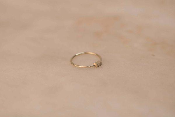 Moissanite Baguette Ring - 14k Yellow Gold 3