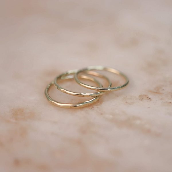 Brass Stacking Rings 1.2 & 1.5 mm Wide