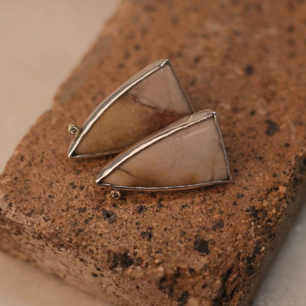 One of A Kind-Earrings Jasper Moissanite Silver 3.