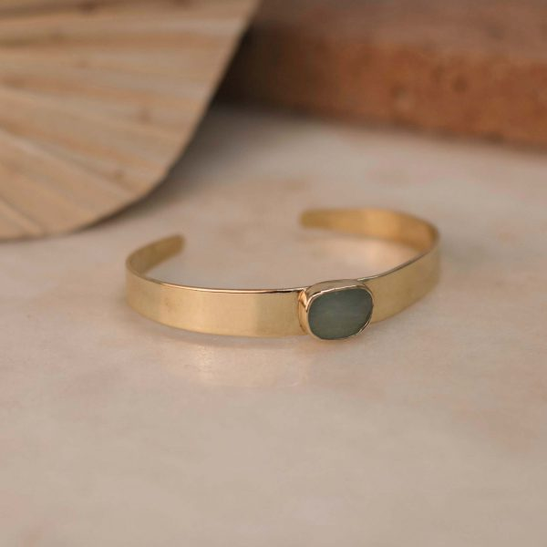 DIOSMA Cuff Amazonite - Brass 2