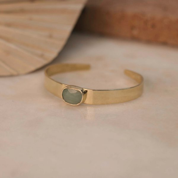 DIOSMA Cuff Amazonite - Brass