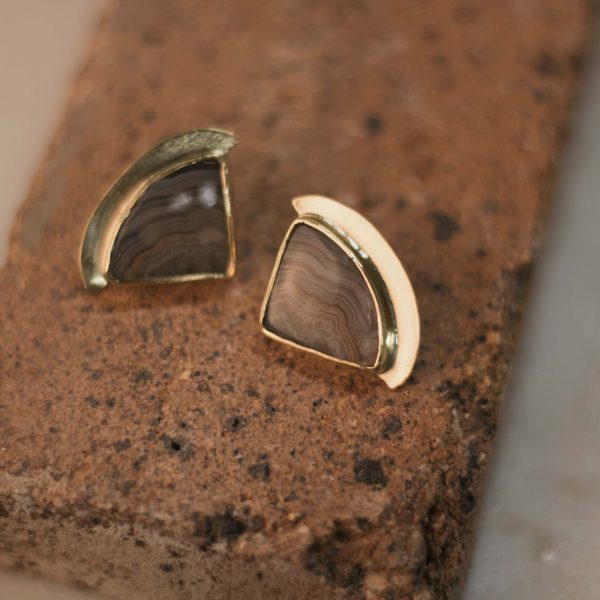 Few of a Kind Jasper Earrings - Brass