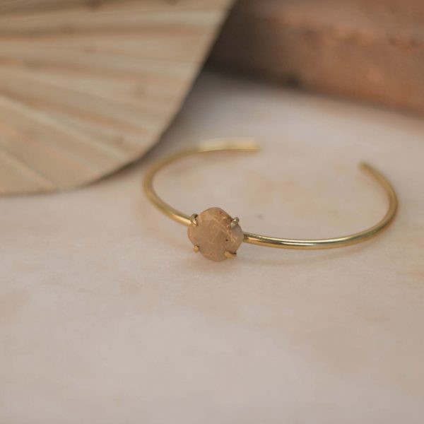 LAMBERTIA Cuff Rutilated Quartz - Brass 2.1