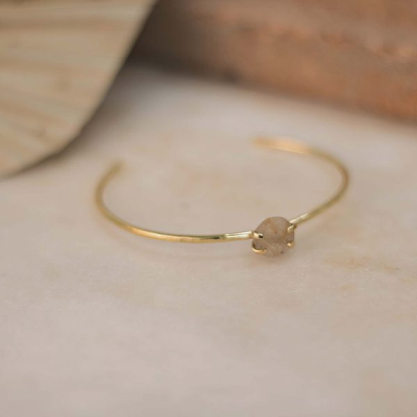 LAMBERTIA Cuff Rutilated Quartz - Brass 1.1