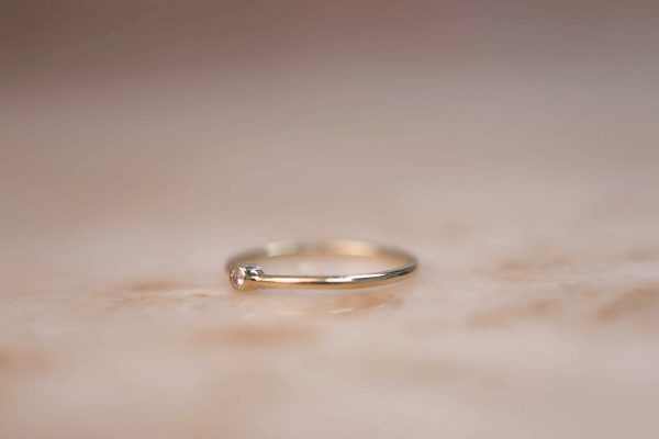 14k-Gold-Tiny-Soliaire-Ring-with-Moissanite-or-Diamond 2.