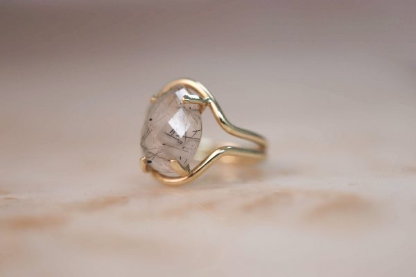 14k-gold-Double-Curve-Teardrop-Rutile-Quartz-Ring 2