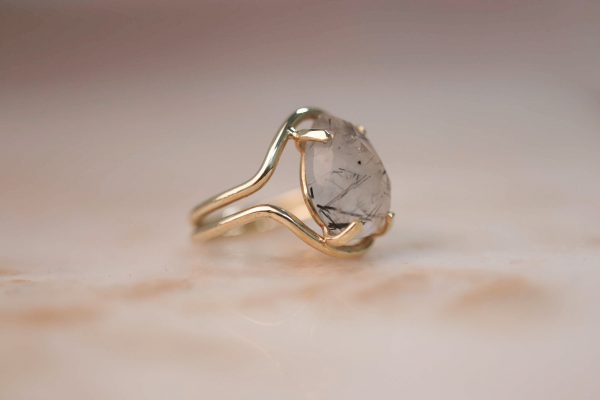 14k-gold-Double-Curve-Teardrop-Rutile-Quartz-Ring 3