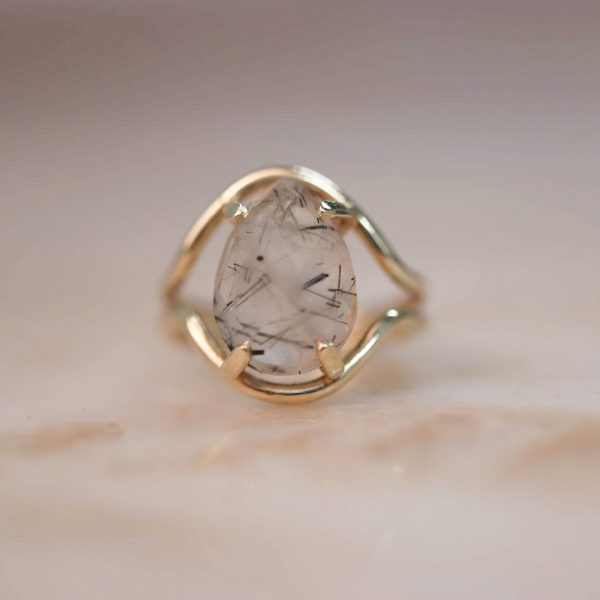 14k-gold-Double-Curve-Teardrop-Rutile-Quartz-Ring