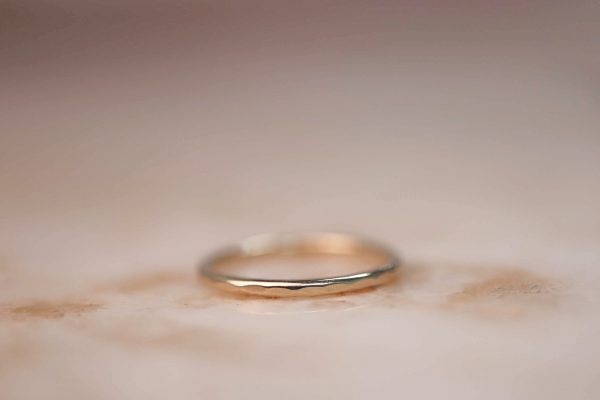 14k-gold-Hammered-Stacking-Ring-1.5-mm