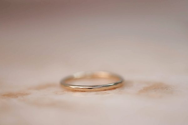 14k-gold-Hammered-Stacking-Ring-1.5-mm 2