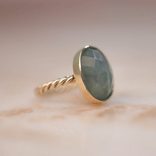 14k-gold-Oval-Aquamarine-Twist-Ring 3.