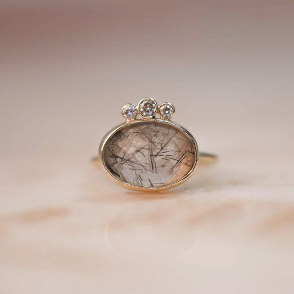 14k-gold-Oval-Rutile-Quartz-Ring-with-Triple-Moissanite-1.