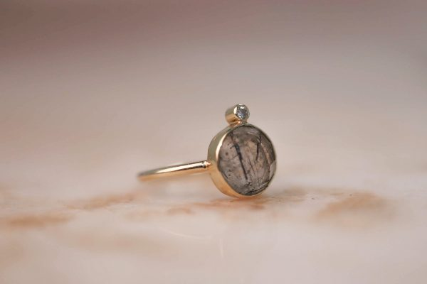 14k-gold-Round-Rutile-Quartz-Ring-with-Moissanite 4.