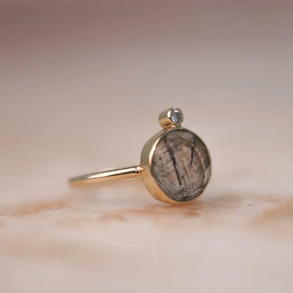 14k-gold-Round-Rutile-Quartz-Ring-with-Moissanite 4.