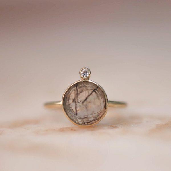 14k-gold-Round-Rutile-Quartz-Ring-with-Moissanite.