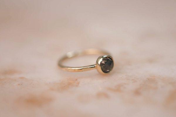 14k gold Rustic Rose Cut Diamond ring 3