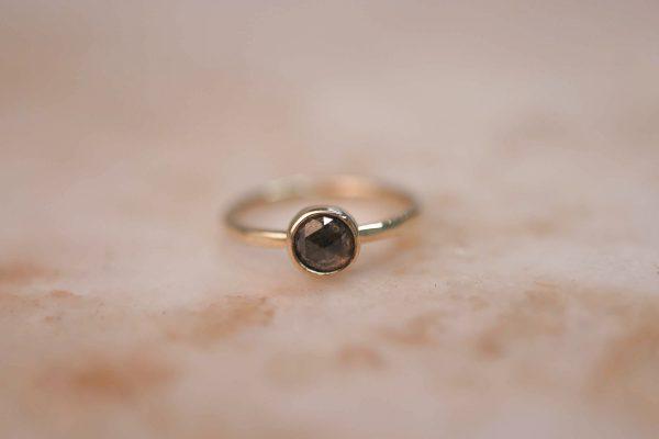 14k gold Rustic Rose Cut Diamond ring