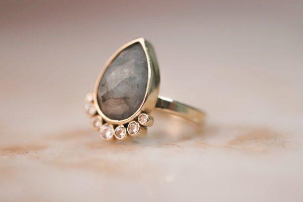 14k-gold-Teardrop-Aquamarine-Ring-with-Moissanite-2