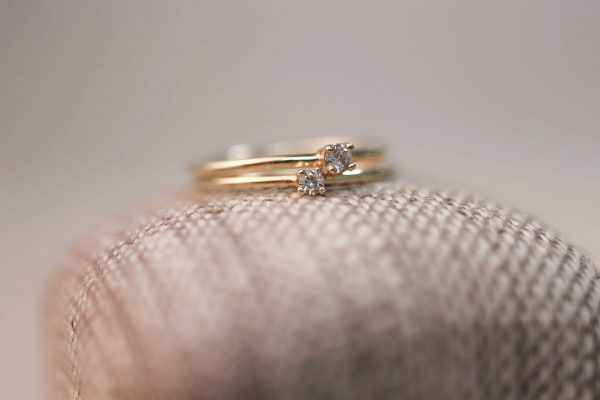 Chaton Solitaire Rings 2 sizes